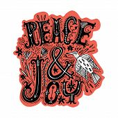 Peace And Love Lettering Placard. Flying Ornate Bird. Boho Gypsy Style. poster