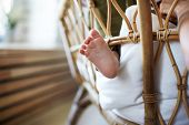 Infancy, Childcare, Parenthood, Maternity And Innocence Concept. Horizontal Picture Of Newborn Infan poster