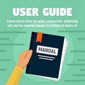 User Guide Manual Concept Banner. Flat Illustration Of User Guide Manual Vector Concept Banner For W poster