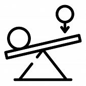 Leverage And Balance Of Power Icon. Outline Leverage And Balance Of Power Vector Icon For Web Design poster