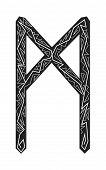 Mannaz Rune. Ancient Scandinavian Runes. Runes Senior Futarka. Magic, Ceremonies, Religious Symbols. poster