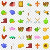 Boot Icons Set. Cartoon Style Of 36 Boot Vector Icons For Web For Any Design poster