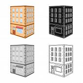 Vector Illustration Of Library And House Icon. Collection Of Library And Bank Stock Vector Illustrat poster