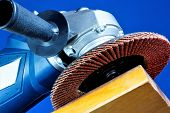 Power Tool Grinding--mechanical Processing Of The Material. Abrasive Processing Is Used In Repair, C poster