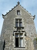 foto of poitiers  - Medieval stone house with ornate roof in Poitiers - JPG