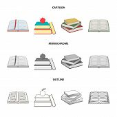 Vector Design Of Library And Textbook Icon. Collection Of Library And School Stock Symbol For Web. poster