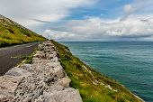 Beautiful Landscape With The Sea And The Rural Coastal R477 Road Along ​​the Burren, Geosite And Geo poster