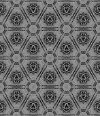 Black And White Medallion Allover Seamless Pattern. Hand Drawn Watercolor Ornament. Breathtaking Rep poster