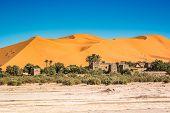 Famous Dunes Erg Chebbi In Morocco, Near Merzouga poster