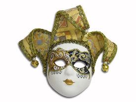 stock photo of mardi gras mask  - beautiful venetian mask isolated on white - JPG
