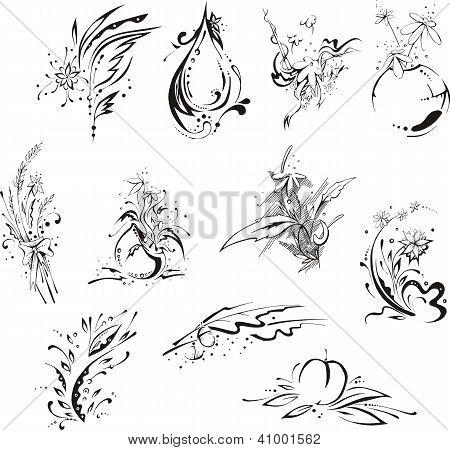 Stylistic Flower Embellishments