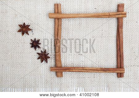 Cinnamon Sticks Frame