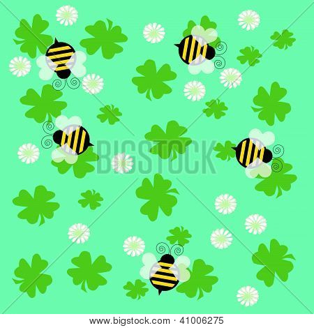 bees and clover