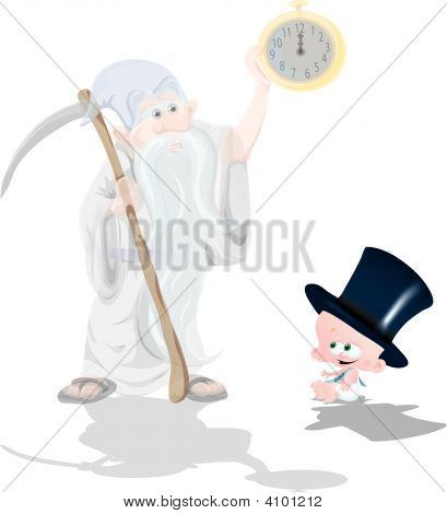 Father Time & Baby New Year
