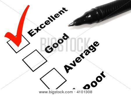 Excellent Survey With Pen