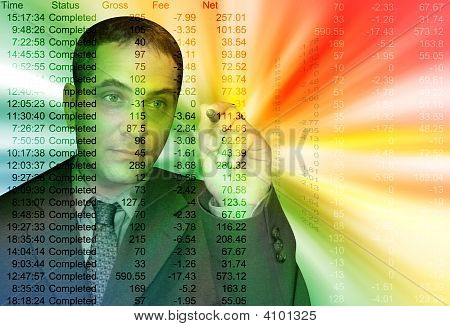 Colorful Business Accountant Man