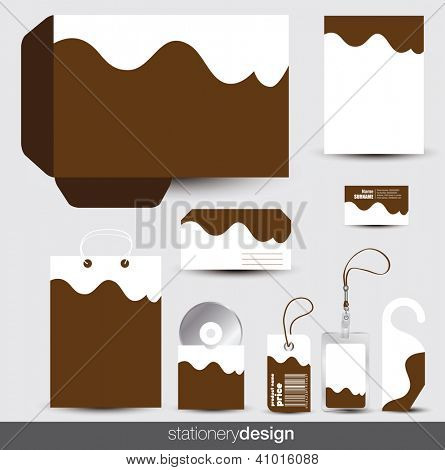 Stationery design set. Vector format in portfolio.