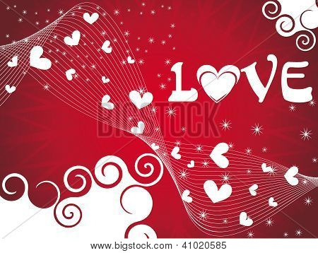 Vector Heart Background