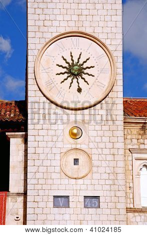 Famous Clock Tower Of Dubrovnik(Croatia)