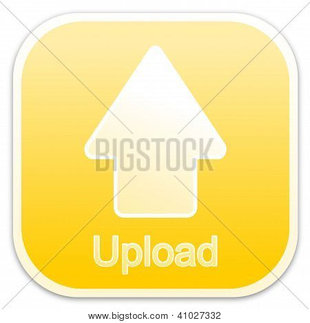 Upload button yellow (square)