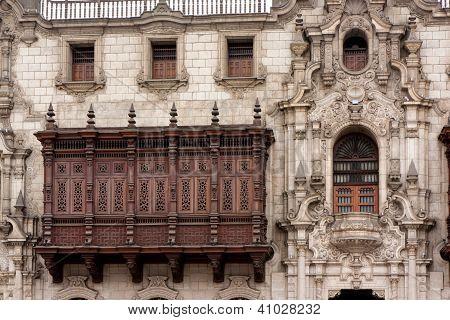 Cedar Balcony, Archbishop's Palace, Lima Peru