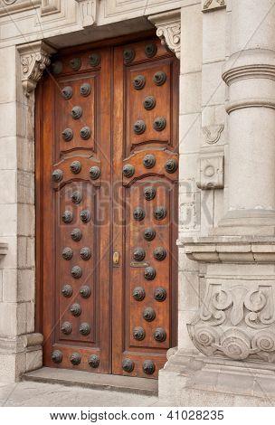 Doors To The Archbishop's Palace, Lima, Peru