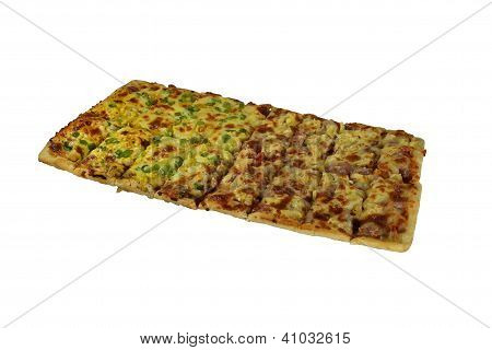 Isolated Very Large Rectangular Pizza