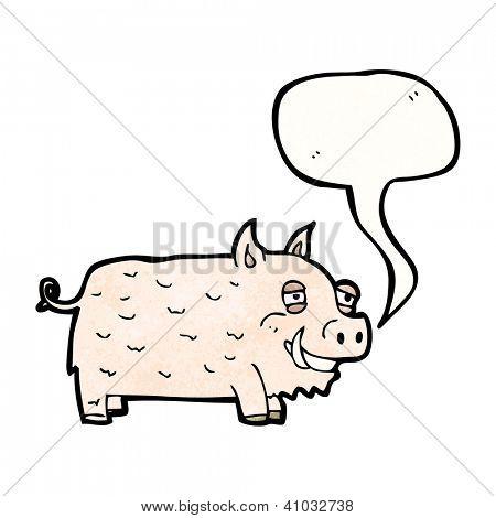Cartoon-Wildschwein