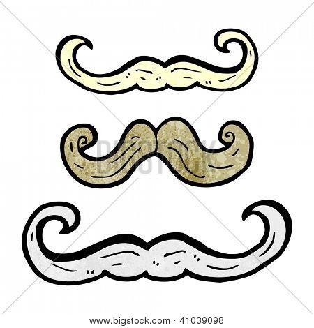 cartoon mustache