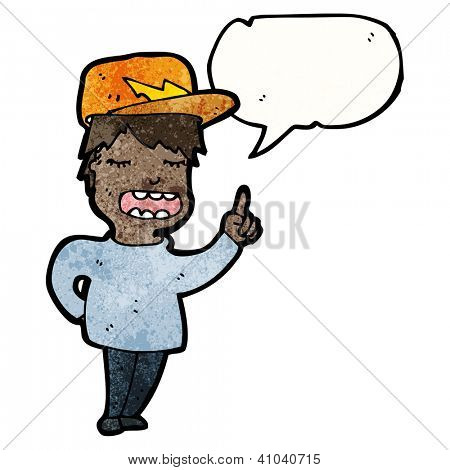 marijuana leaf cartoon character with speech cloud