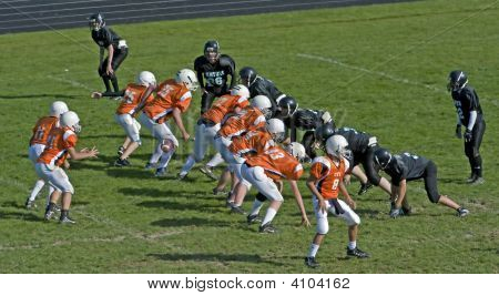 Youth Football Play In Progress
