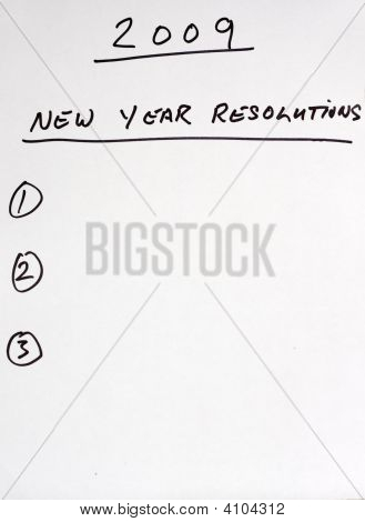 2009 Resolutions List