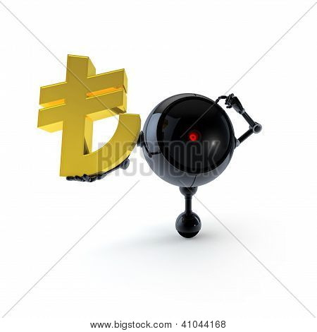 Robot Keep Turkish Lira Sign