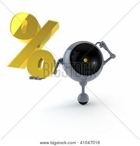 Robot Keep Question Percent Sign