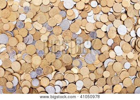 Ukrainian Coins Background