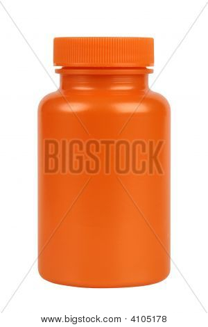 Orange Plastic Jar