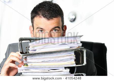 Homem ocupado