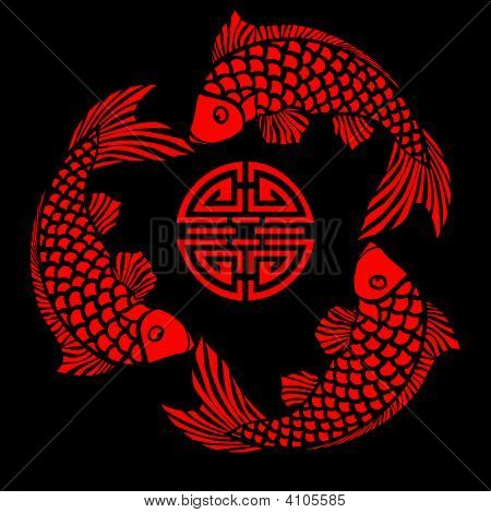 Lack Fliesen mit Fisch design