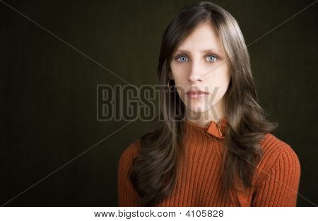 Expressionless Young Woman
