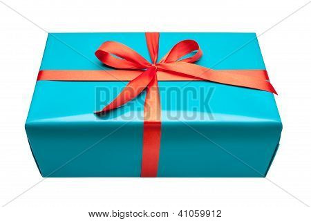 Single Blue Gift Box
