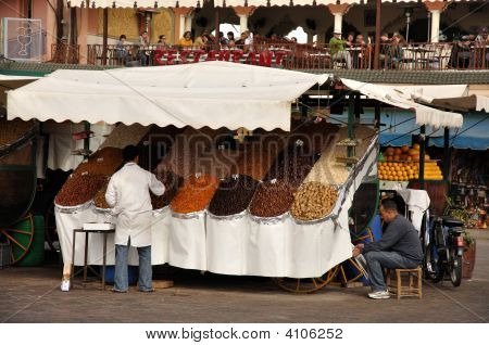Market Stall In Marrakech