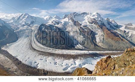 Gorner Glacier Panorama