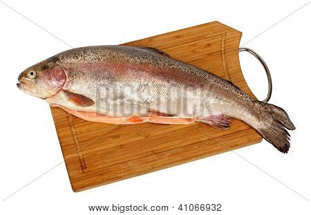 Salmon On The Cutting Board