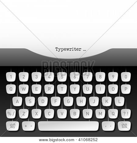 Typewriter. Vector.