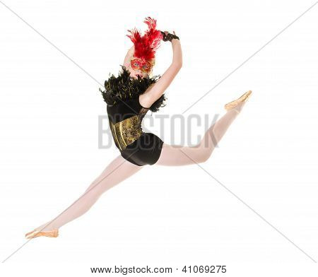 Ballerina With Back Attitude Jump