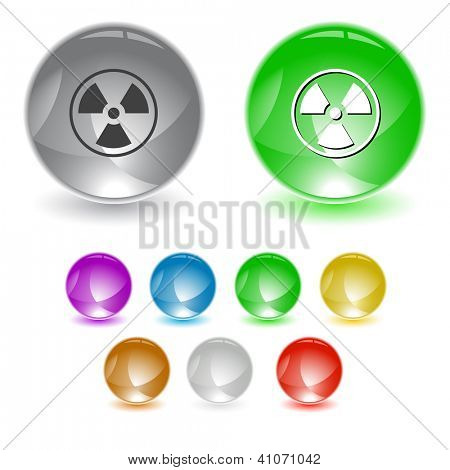 Radiation symbol. Raster interface element. Vector version is in portfolio.