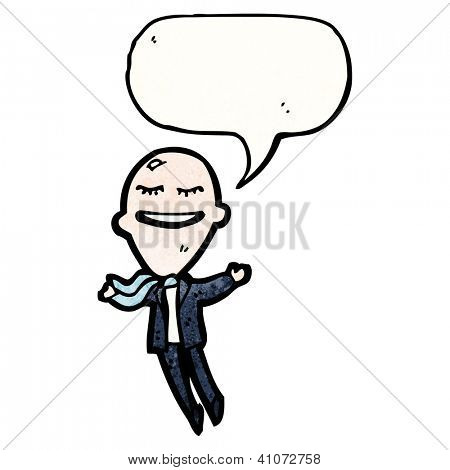 cartoon big head businessman