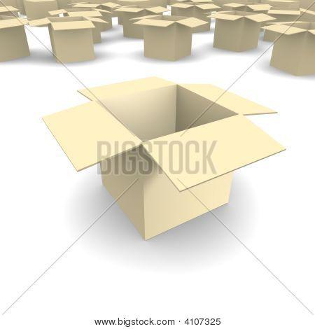 Empty Cardboard Box 3D