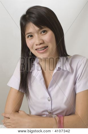 Young Girl With Braces