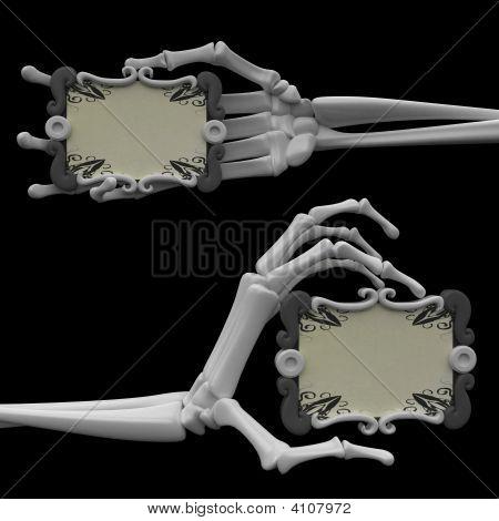 Skeleton Arm, Scroll Signs